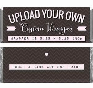 Custom wrapper for 155 oz candy bars for Personalized chocolate wrappers template