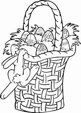 Easter Coloring Basket Pages Printable sketch template