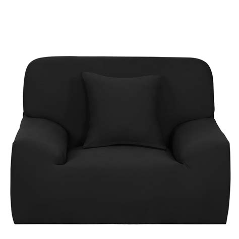 Black Loveseat Cover by Stretch Sofa Cover Chair Loveseat Slipcovers