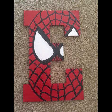 spiderman letter art crafty ideas pinterest spiderman superhero letters  painted monogram