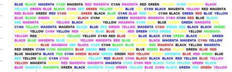 stroop color word test matlab exles