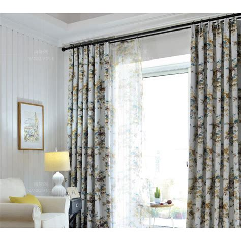 Shabby Chic Bedroom Curtains by White Tree Print Polyester Country Shabby Chic
