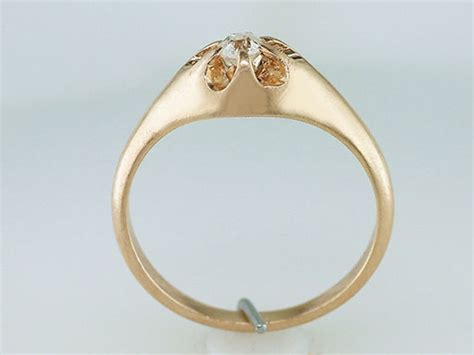 vintage 14k yellow gold victorian engagement ring ebay