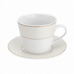 Tasse Petit Déjeuner : tasse petit d jeuner 400 ml avec soucoupe l 39 or du temps ~ Teatrodelosmanantiales.com Idées de Décoration