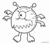 Monster Coloring Pages Printable Cool2bkids sketch template