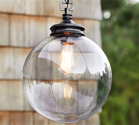 pottery barn glass l calhoun glass indoor outdoor pendant pottery barn