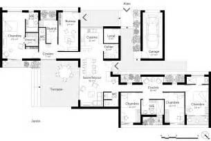 Plan Maison Plain Pied 4 Chambres Avec Suite Parentale by Plan Maison De Plain Pied Avec Suite Parentale Ooreka