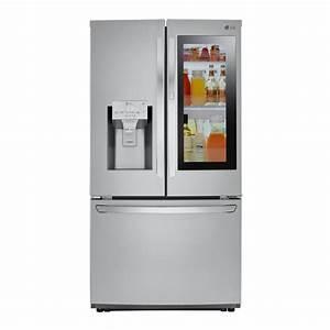 Lg 3-door French Door Smart Refrigerator With Instaview Door-in-door In Stainless Steel
