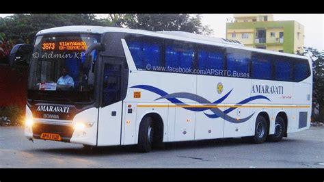 apsrtc scania amaravati  vijayawada depot youtube