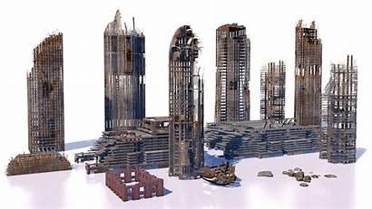 Buildings Ruins 3d Skyscrapers Cityscape Models Exterior