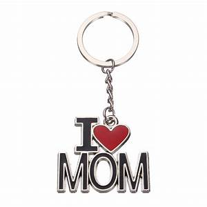 I Love Mom Letters Words Mother's Gift Key Chain Ring ...