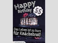 Geburtstagstorte 55 Geburtstag Happy Birthday