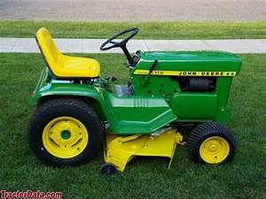 Tractordata Com John Deere 112 Tractor Photos Information