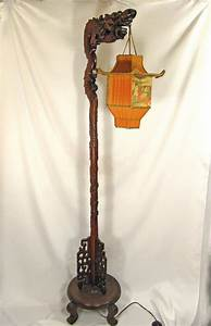 chinese dragon lamp wood floor carved with custom pagoda With brass dragon floor lamp
