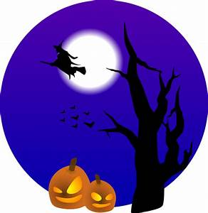 Halloween Scene Clip Art at Clker.com - vector clip art ...