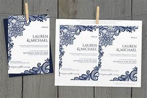 diy wedding invitation template download instantly With free printable navy blue wedding invitations