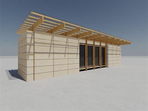 cuisine parement container maritime isolation en paille architecture