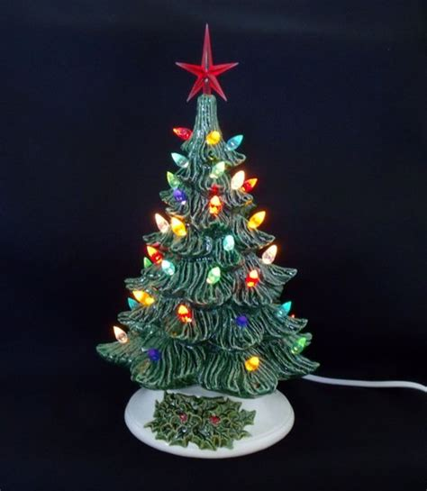ceramic tree with lights fashioned ceramic tree 11 inches by
