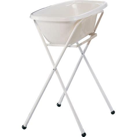 baignoire bébé avec siège intégré support de baignoire bébé blanc 35 sur allobébé