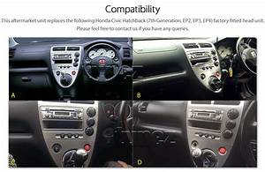 Car Gps Dvd Mp3 Player Radio For Honda Civic Ep2 Ep3 Facia