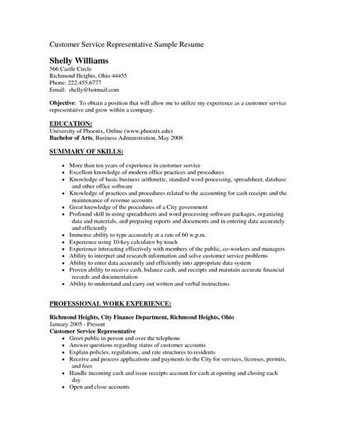 Resume Summary Statement Exles Customer Service by 14 Resume Objectives Customer Service Sle Resume