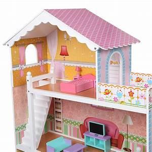 Barbiehaus Aus Holz : b ware puppenhaus holz puppenstube dollhouse 2 etagen barbiehaus puppenm bel ebay ~ Orissabook.com Haus und Dekorationen