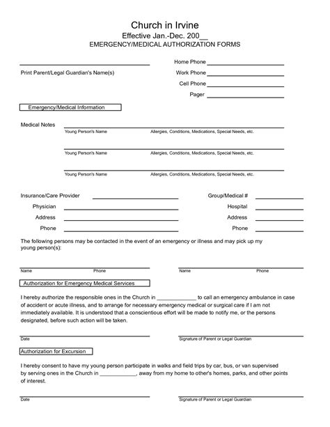 medical records release form template 7 best images of free printable medical release form