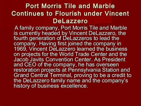 port morris tile sold port morris tile and marble continues to flourish