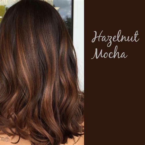 Espresso Hair Color With Caramel Highlights by Hazelnut Mocha Hairstyles Brown Hair Balayage Mocha