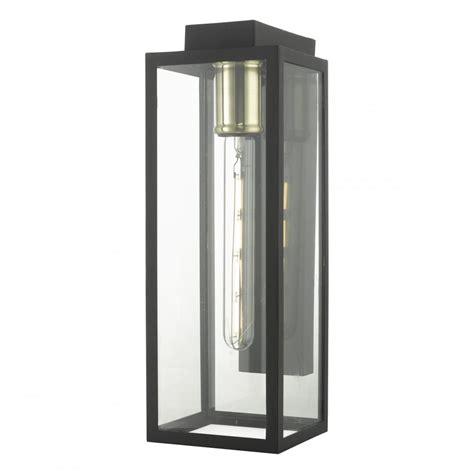 parker modern outdoor wall lantern in matt black finish
