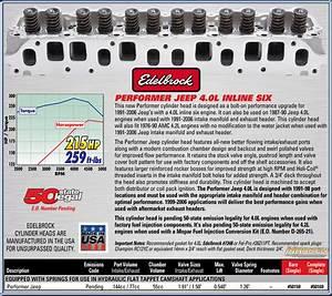Edelbrock Performer Cylinder Head Part   50169 Fits 1991