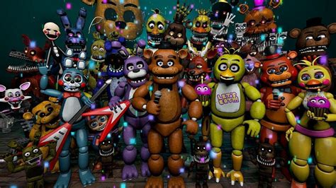 All Fnaf Characters Sing Five Nights At Freddys