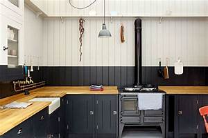 Navy white stripe paint tongue groove panelling for Kitchen cabinets lowes with wood burning wall art