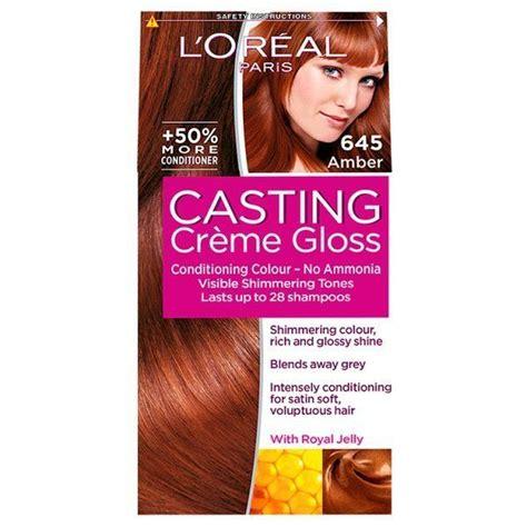 Loreal paris creme gloss casting semi permanent hair dye iced mocha no amonia. Casting Creme Gloss 645 Amber Auburn Semi Permanent Hair ...