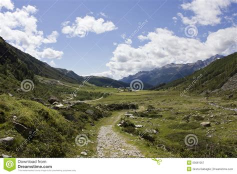 Natural And Peaceful Mountain Landscape Stock Photo