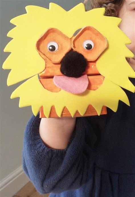 lion puppet fun games  kids happy kids crafts