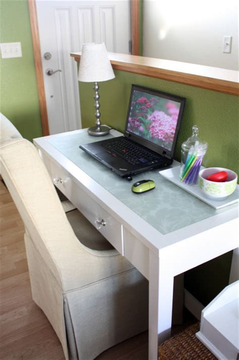 White Console Table Turned Desk