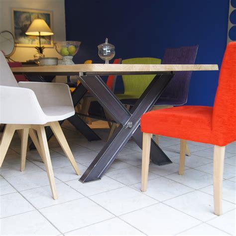 canape d exterieur table métal pied ipn fabrication française villa mélodie