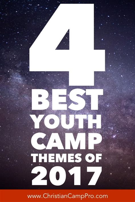 Best Themes 2017 4 Best Youth C Themes For 2017 Christian C Pro
