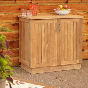 "36"" Artois Teak Outdoor Kitchen Cabinet - Outdoor"