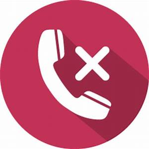 Phone call reject Icon | 100 Flat Iconset | GraphicLoads