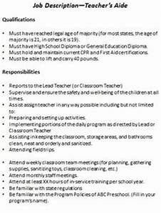 Child Care Director Job Descriptions Preschool Job Description Resource Packet With Editable