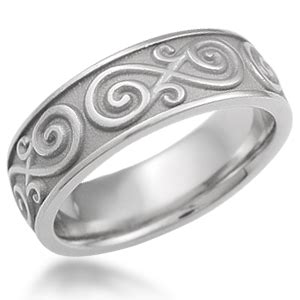 eternity symbol contemporary infinity wedding band