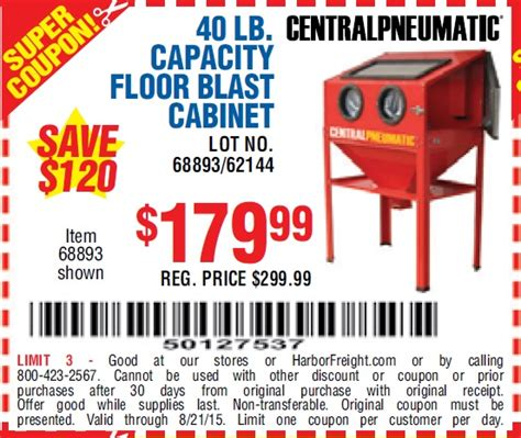 Harbor Freight 40 Lb Blast Cabinet by Harbor Freight Tools Coupon Database Free Coupons 25