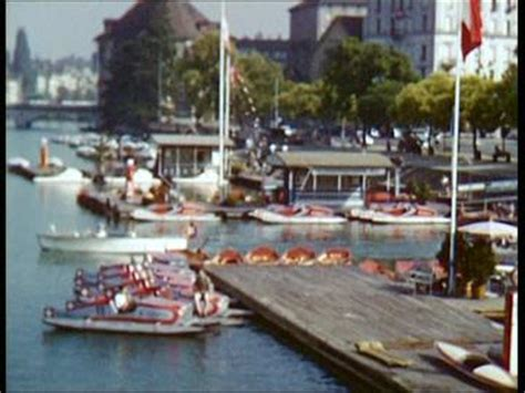 Pedal Boat Zurich by Travel Switzerland 1952 Hd Stock 946 183 556