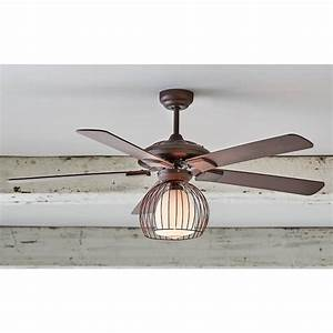 Metal Cage Ceiling Fan