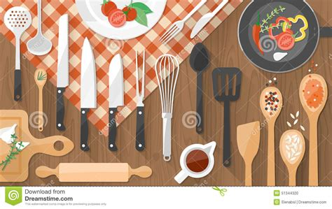 cuisine and cook food and cooking stock vector image 51344320