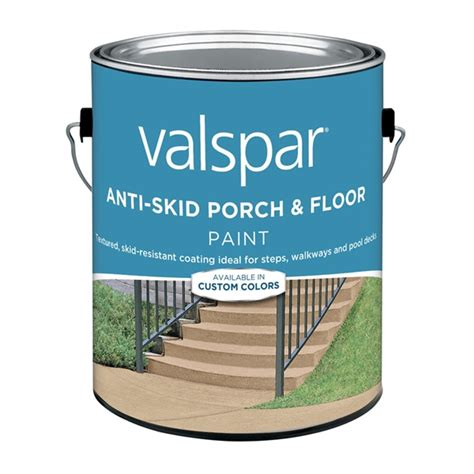 valspar   light gray anti skid porch  floor paint