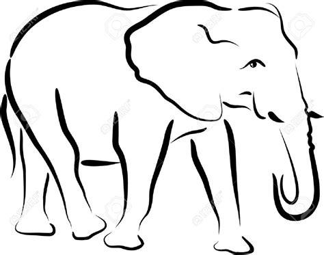 elephant clipart outline trunk up best elephant outline 5336 clipartion