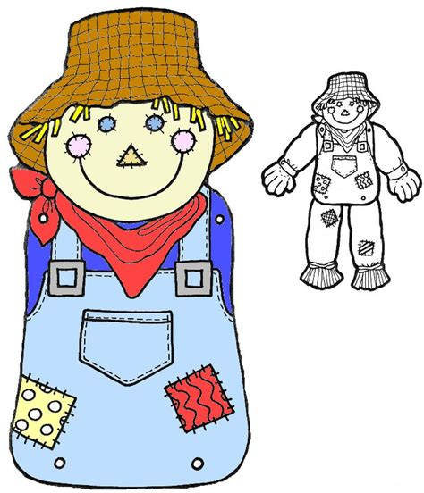 printable scarecrow patterns colored body pattern